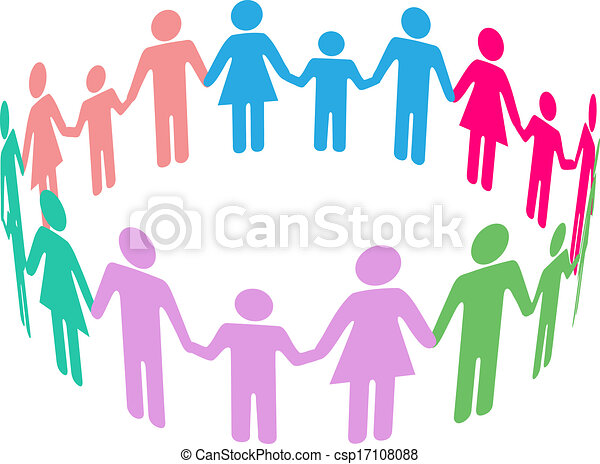 társadalmi, változatosság, család, közösség, emberek - csp17108088