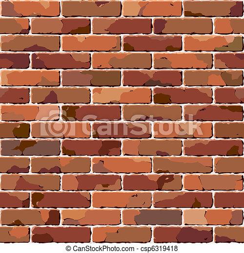 tégla, wall., öreg, seamless, texture. - csp6319418
