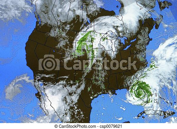 tényleges, térkép, időjárás - csp0079621