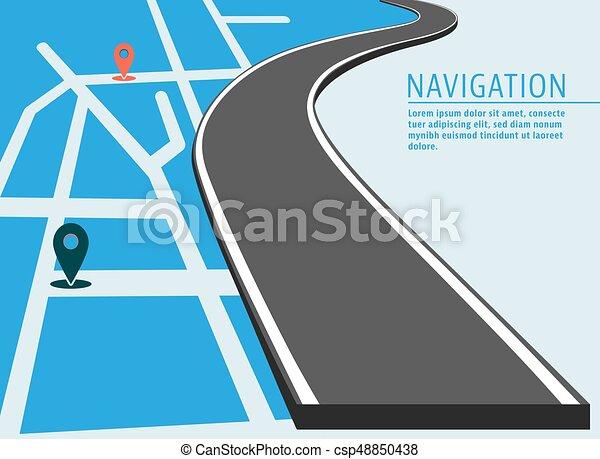 térkép, elhelyezés, transzparens - csp48850438