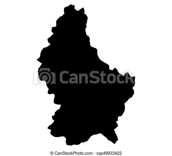 térkép, luxemburg - csp49933422