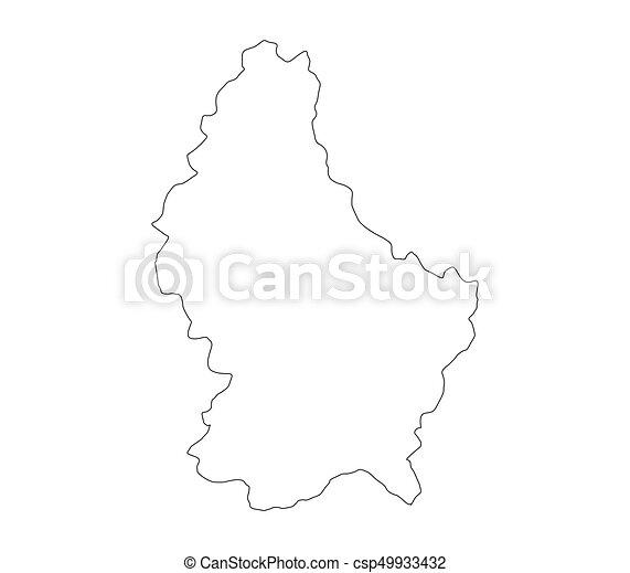 térkép, luxemburg - csp49933432