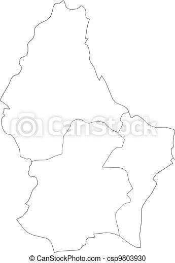 térkép, luxemburg - csp9803930