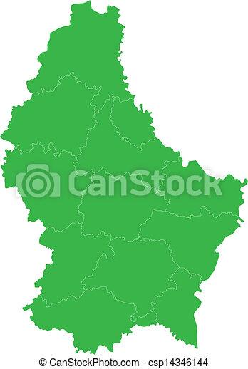 térkép, zöld, luxemburg - csp14346144