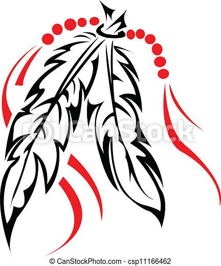 törzsi, feathers. - csp11166462