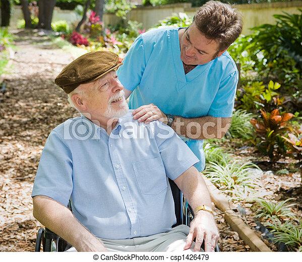 türelmes, öregedő, ápoló - csp1426479