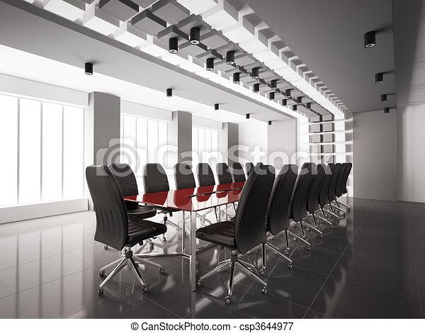 tanácskozóterem, belső, modern, 3 - csp3644977