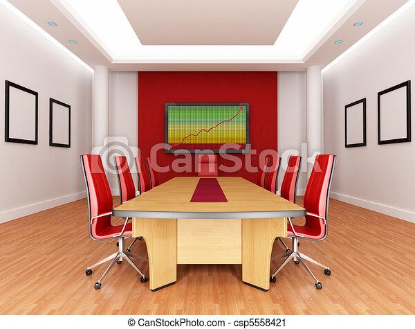 tanácskozóterem, piros - csp5558421