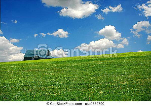 tanya, istálló, mező - csp0334790