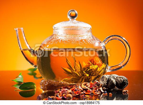 tea, virágzó - csp18984175