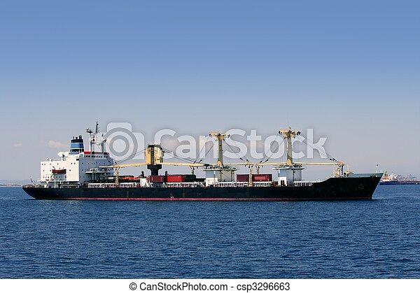 teherárú tároló, vitorlázás, földközi-tenger, fuvarozó, hajó - csp3296663