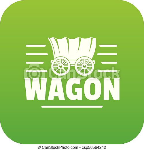 tehervagon, vektor, zöld, ikon - csp58564242
