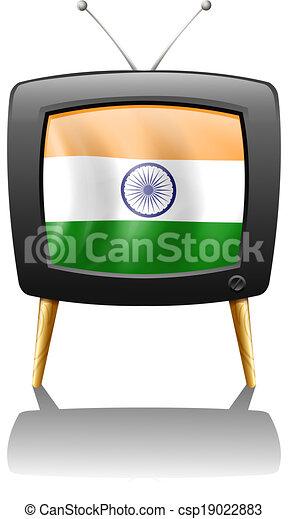 televízió, india lobogó - csp19022883