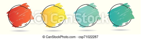 teljes, állhatatos, grunge, frame., banner., poszter, felett, struktúra, festék, vektor, tervezés, akril, jel, főcím - csp71022287