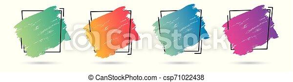 teljes, állhatatos, grunge, frame., banner., poszter, felett, struktúra, festék, vektor, tervezés, akril, jel, főcím - csp71022438