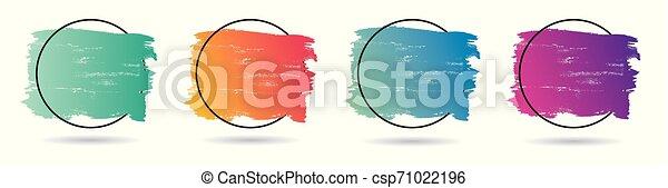 teljes, állhatatos, grunge, frame., banner., poszter, felett, struktúra, festék, vektor, tervezés, akril, jel, főcím - csp71022196