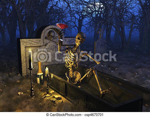 temető, ünneplés - csp4670701