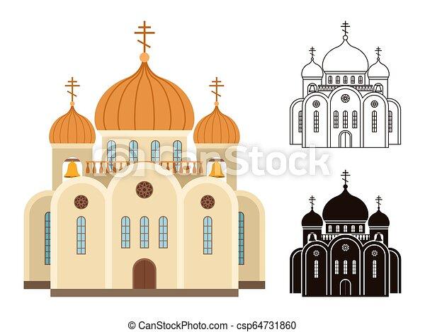templom, keresztény, ikonok - csp64731860