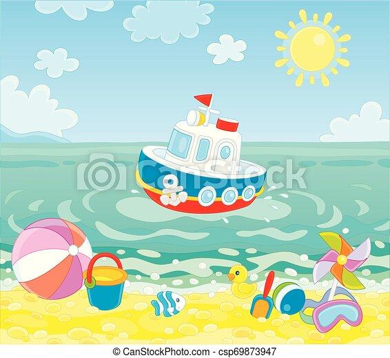tengerpart, tenger, apró - csp69873947