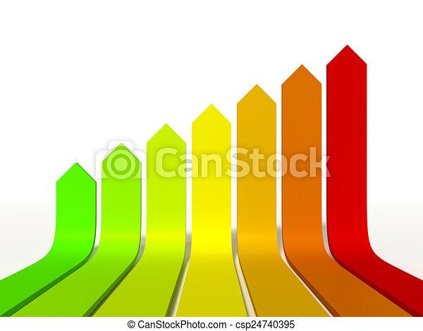 termelékenység, energia, grafikus - csp24740395