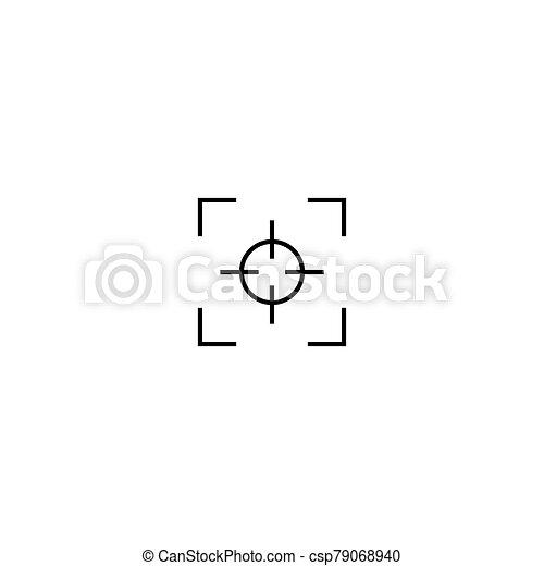 tervezés, összpontosít, egyszerű, ikon, jelkép - csp79068940
