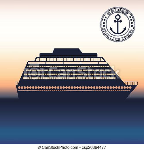 tervezés, csónakázik - csp20864477