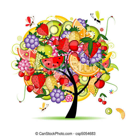 tervezés, energia, gyümölcs fa, -e - csp5054683