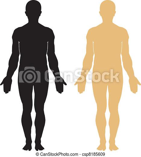 test, árnykép, emberi - csp8185609