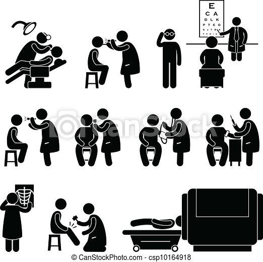 test, orvosi, feláll, egészség, teszt, ellenőriz - csp10164918