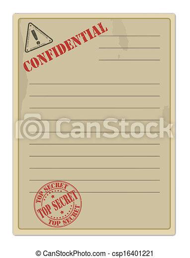 tető, dokumentum, öreg, titkos - csp16401221