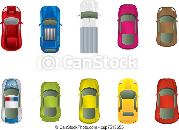 tető, különböző, autó, kilátás - csp7513655