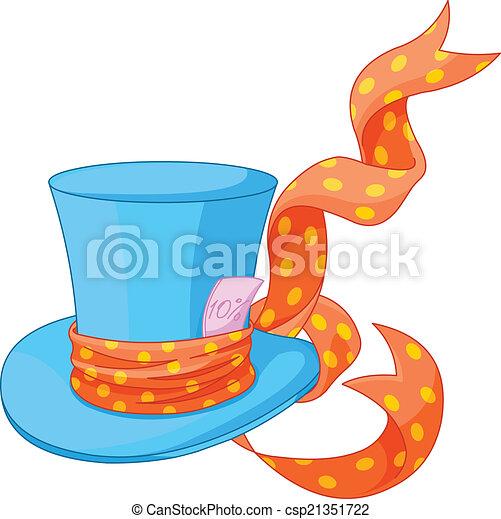 tető kalap, őrült, kalapos - csp21351722