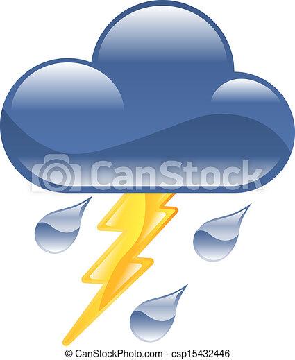 thun, ikon, időjárás, clipart, villámlás - csp15432446