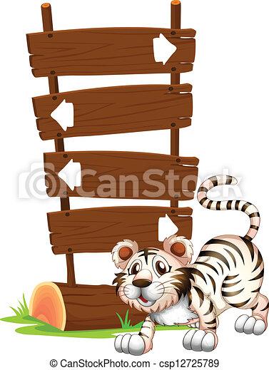 tiger, helyzet, ugrás - csp12725789