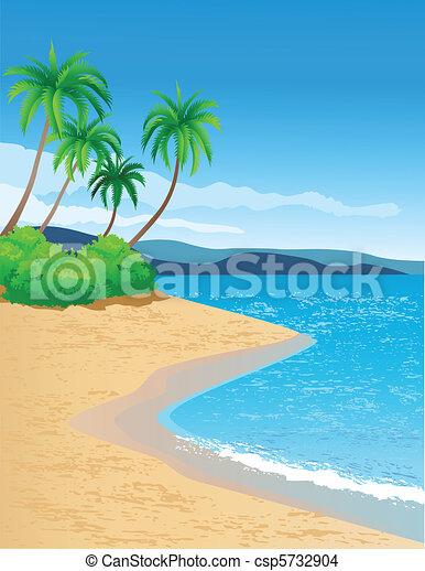tropical tengerpart - csp5732904