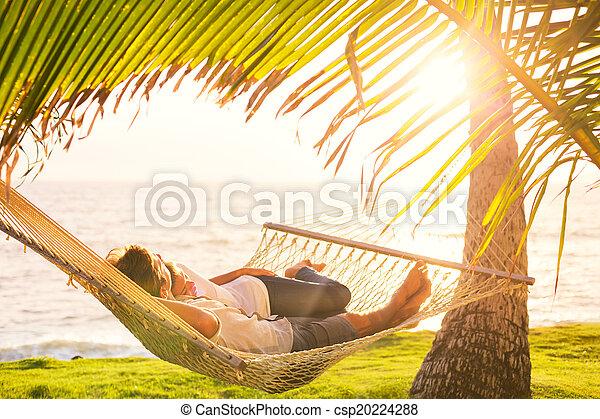 tropikus, párosít, függőágy, bágyasztó - csp20224288