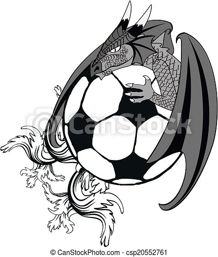 tshirt2, futball, tatto, sárkány - csp20552761