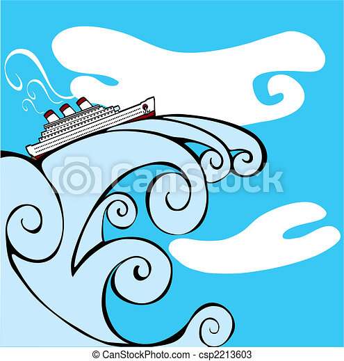 tsunami., hajó cruise - csp2213603