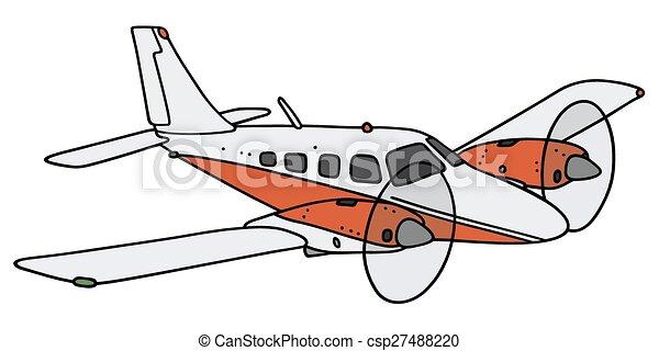 twin-engine, repülőgép - csp27488220