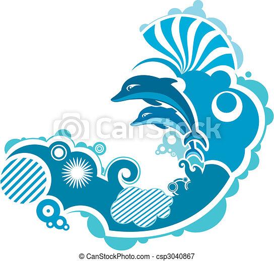 ugrás, delfin - csp3040867