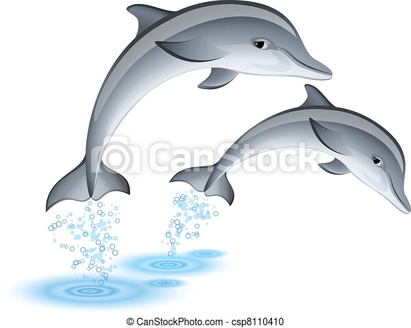 ugrás, delfinek - csp8110410