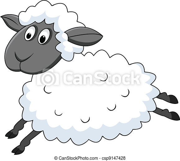 ugrás, sheep - csp9147428