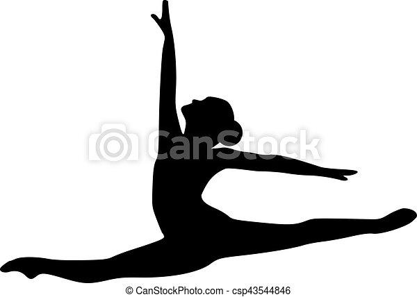 ugrás, táncos, balett - csp43544846