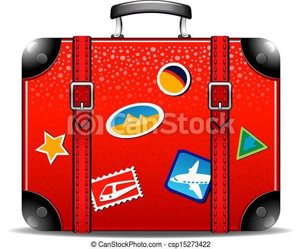 utazás, bőrönd - csp15273422