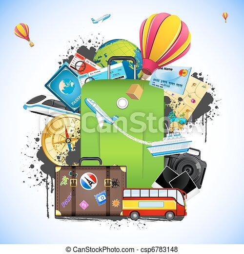 utazás, csomag - csp6783148