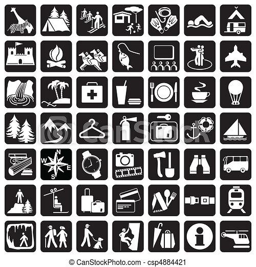 utazás icons - csp4884421