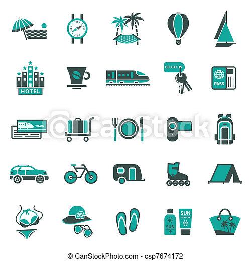 utazás, signs., pihenés - csp7674172