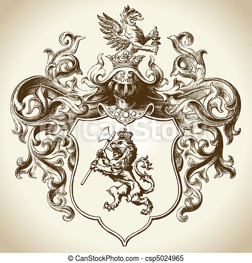 választékos, címertani, embléma - csp5024965