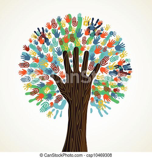 változatosság, fa, elszigetelt, kézbesít - csp10469308