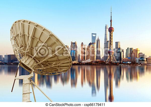 város égvonal, shanghai - csp66179411